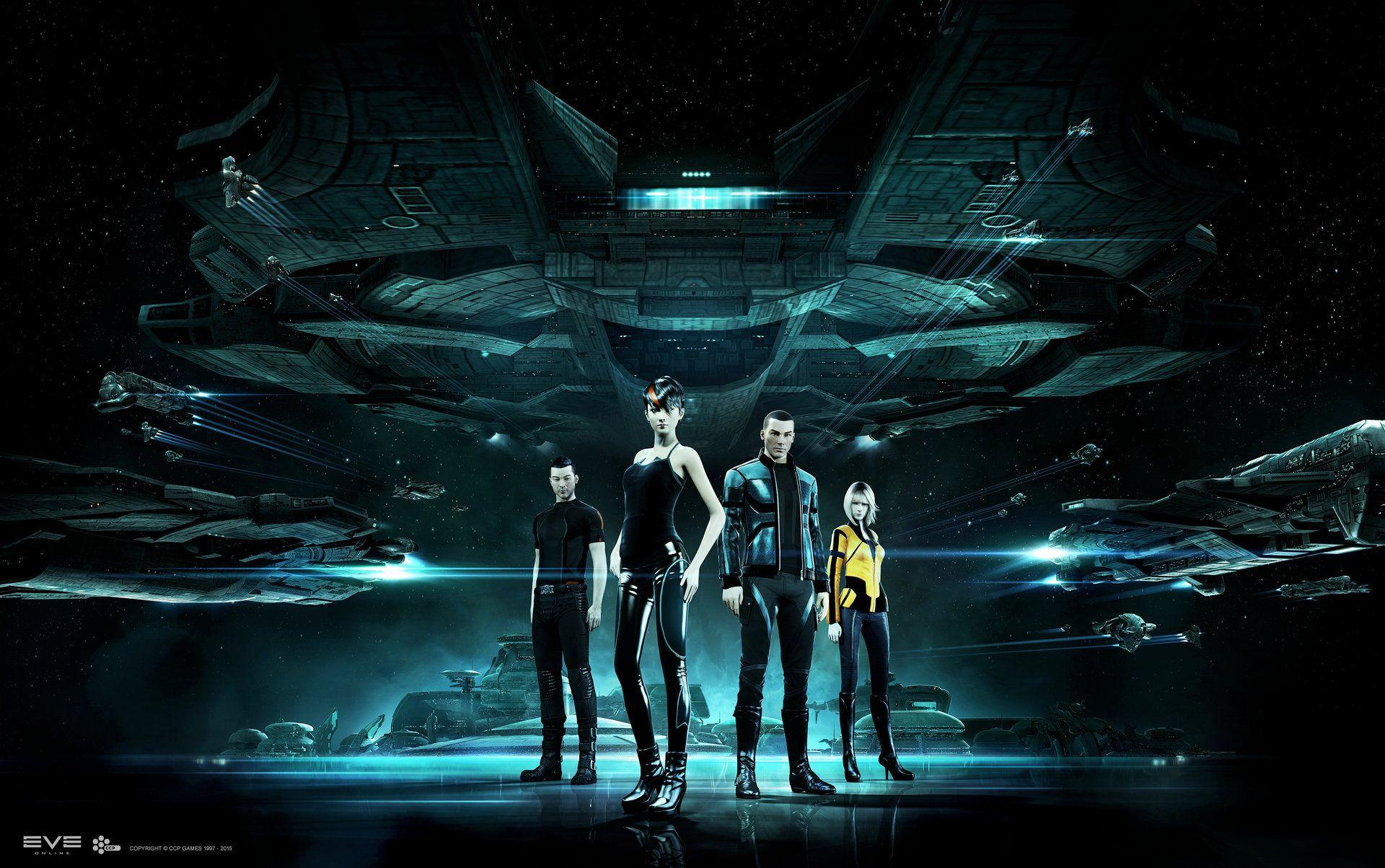 Gallente Crew (ArtStation - Eve Online - Key Art, Andrei Cristea