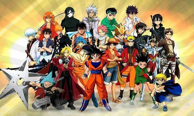 Dbzzaabi On Instagram Goku Gon Luffy Yagami Fullmetalalchemist Fairytail Dbz Hunterxhunter Ichigo Narut Personagens De Anime Fanarts Anime Anime