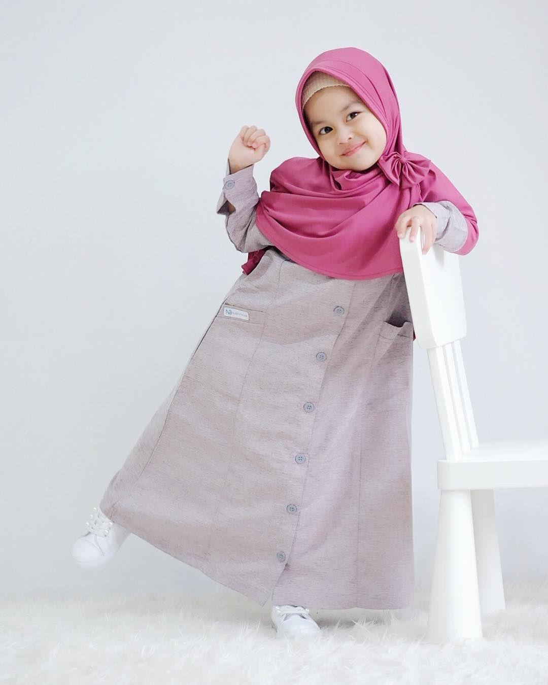 gamis anak polos kombinasi  Model pakaian bayi, Pakaian bayi