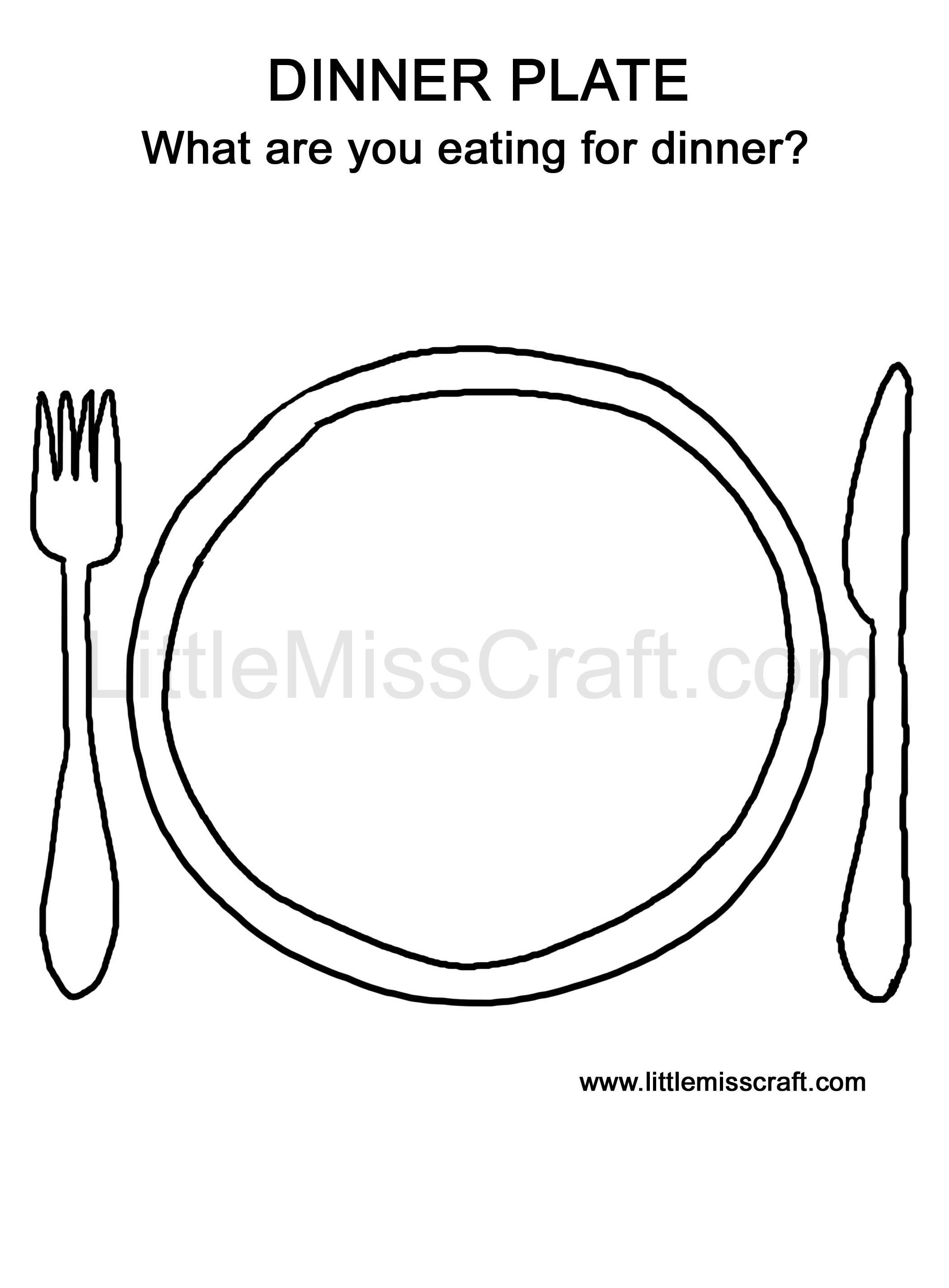 Doodle and color what\'s on your Thanksgiving dinner plate! Print at ...