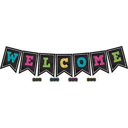 Teacher Created Resources Chalkboard Brights Welcome Pennant Bulletin Board (5614), http://www.amazon.com/dp/B00S2XSZOU/ref=cm_sw_r_pi_awdm_Z1SAxbJHF2DWK