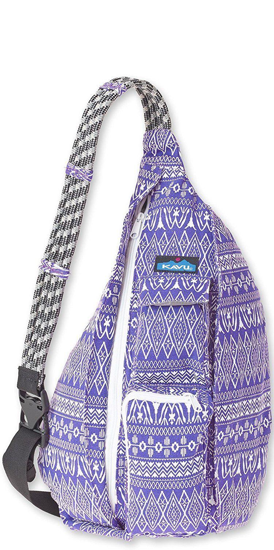 Kavu Rope Bag Purple Pattern Sports Outdoors