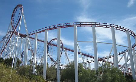 Magic Mountain Discount Tickets Save 22 00 Daytrippen Com Roller Coaster Six Flags Greatest Adventure