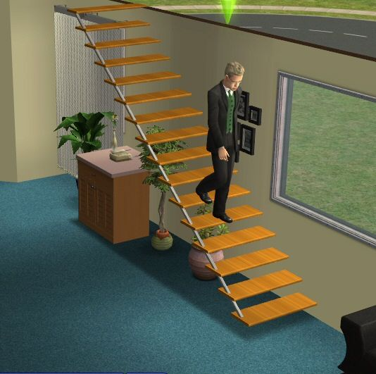 ModTheSims Testers Wanted Open Plan Interior Staircase