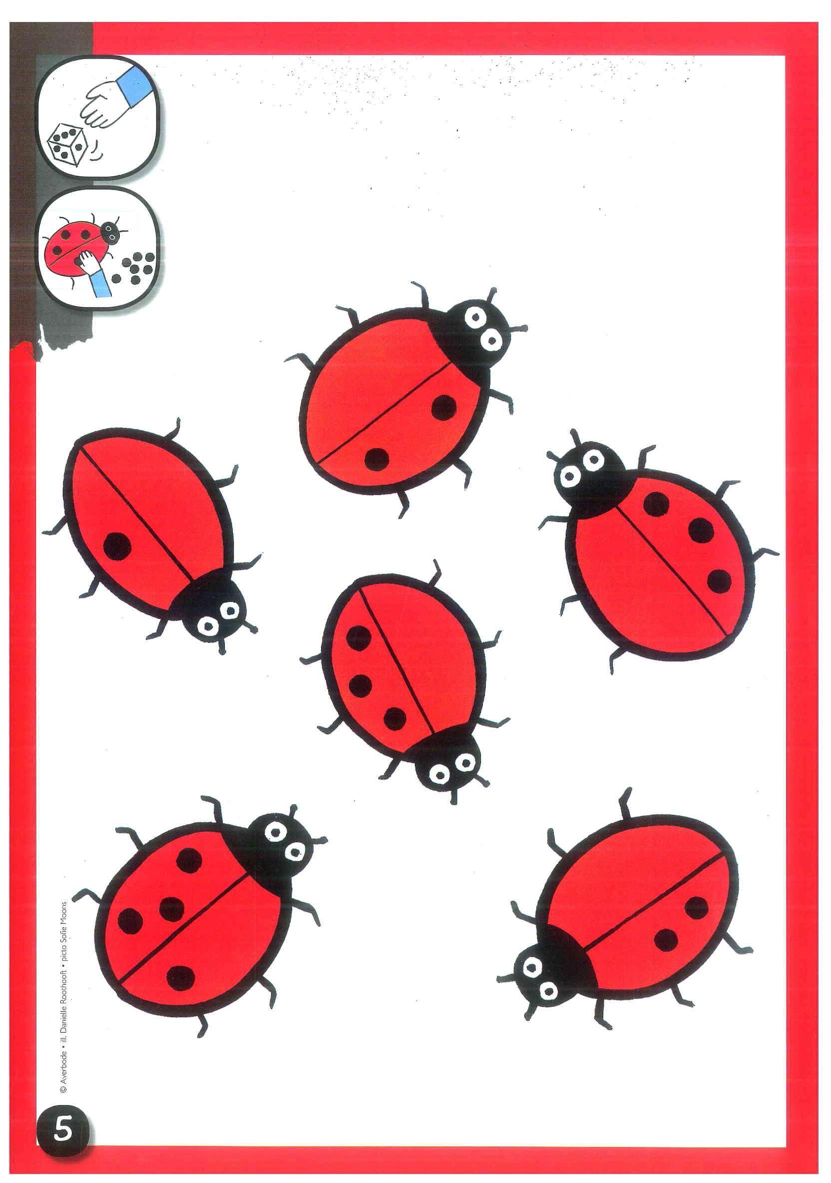 Kleikaart Geef Deze Lieveheersbeestjes Zwarte Stippen
