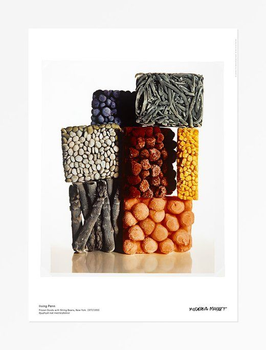 Irving Penn │ Djupfryst mat med brytbönor, 1977/93 │ Affisch - Moderna Museet Webshop Irving Penn - Djupfryst mat med brytbönor, 1977/93