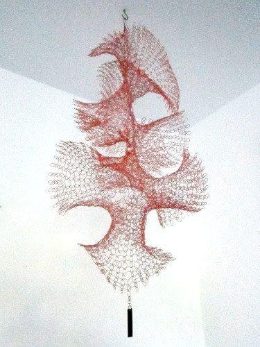 hanging copper twist sculpture