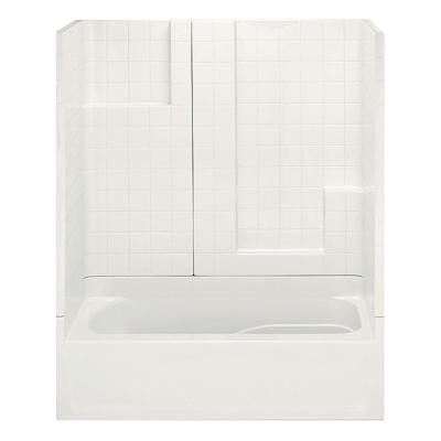 Aquatic Varia Smooth Tile 60 in. x 30 in. x 72 in. 3Piece