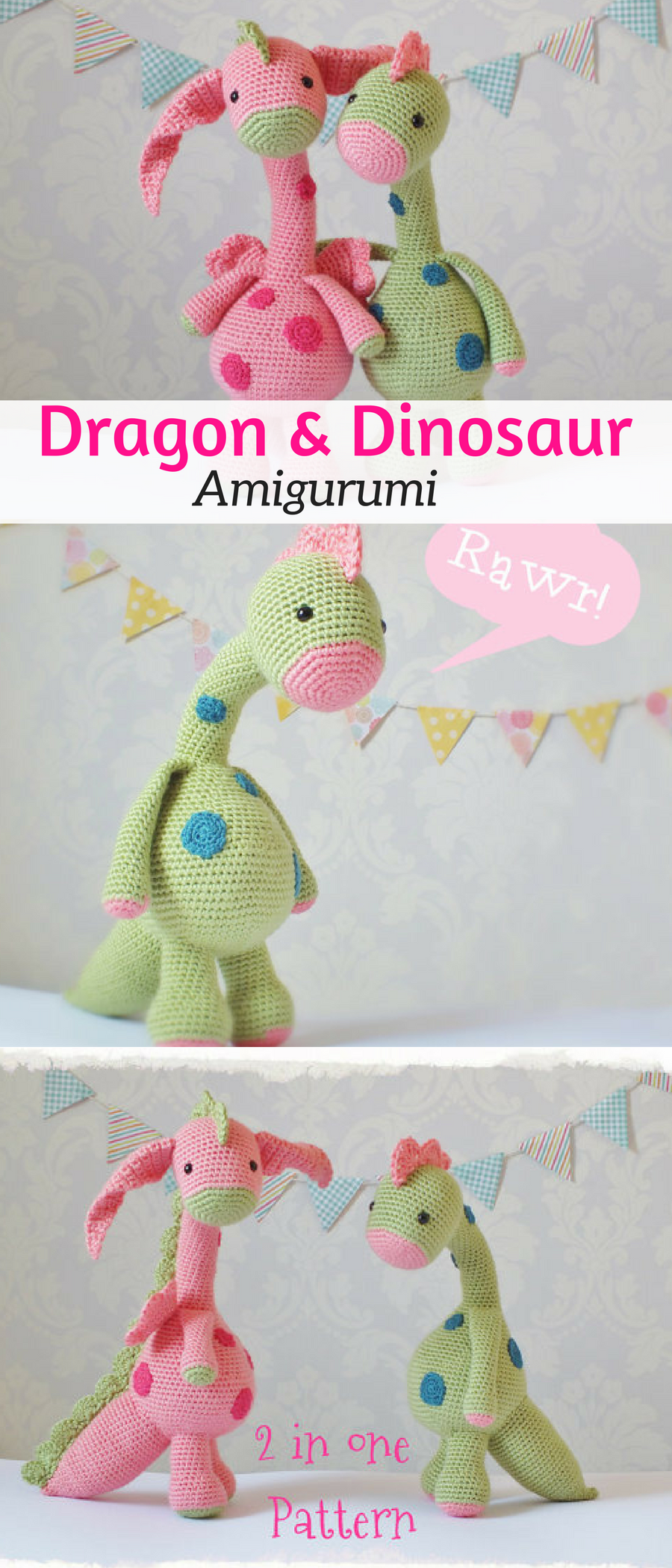 I love these Crochet Dragon and Dinosaur Amigurumi. Cute Childrens ...