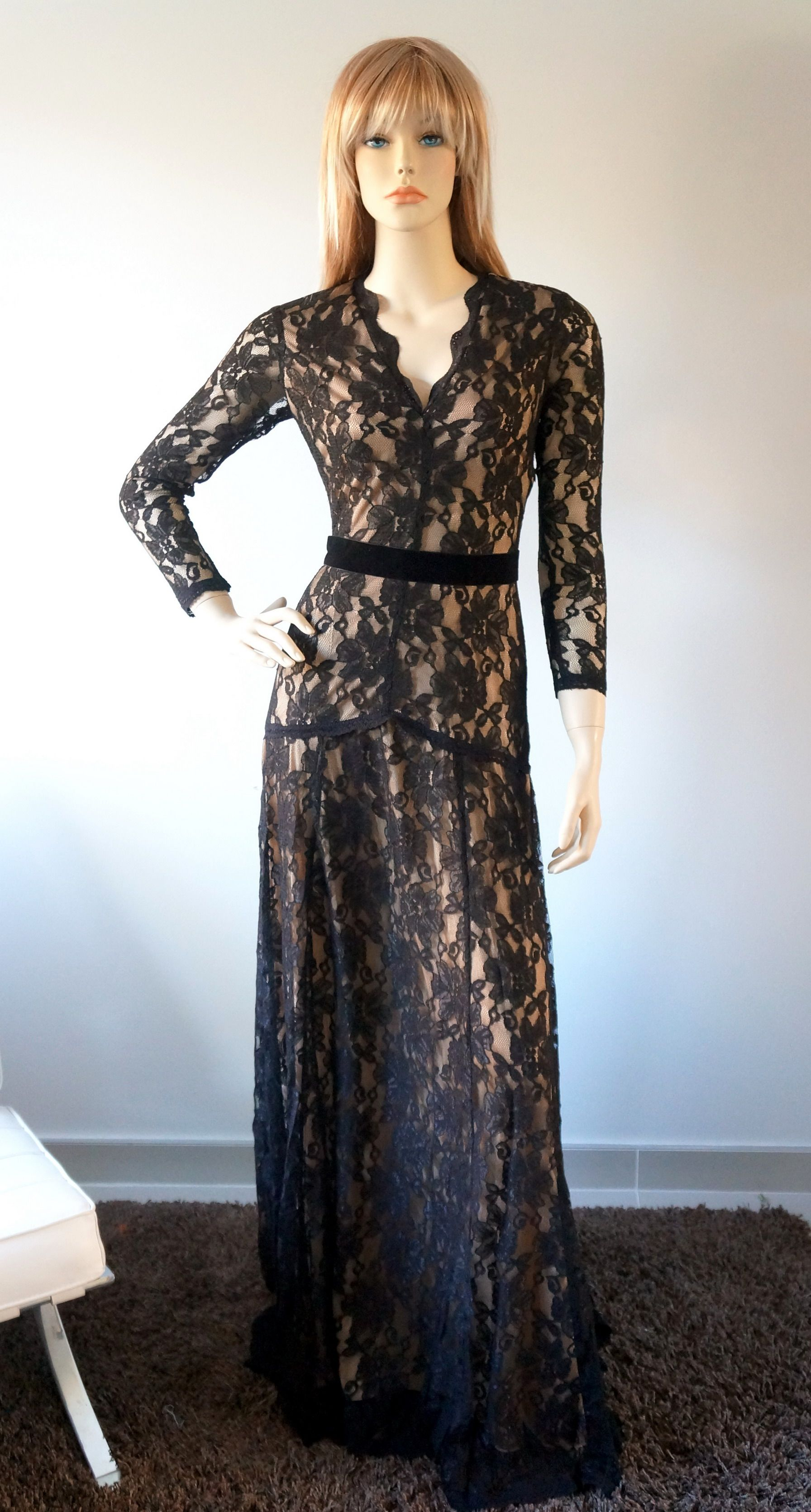 elegant black lace dresses - photo #46
