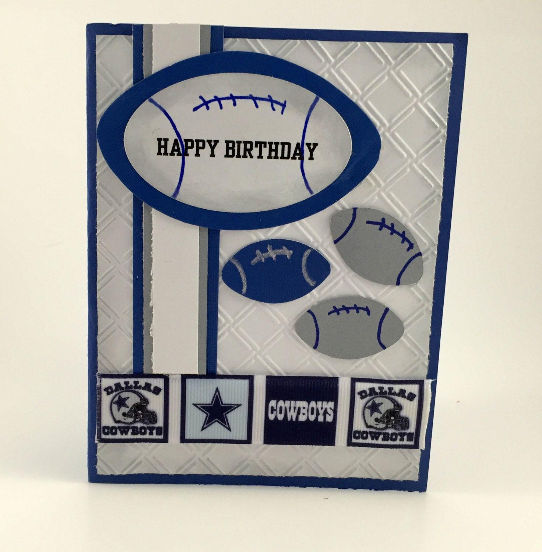 A Birthday Card For The Dallas Cowboys Fandallas Cowboys Gift