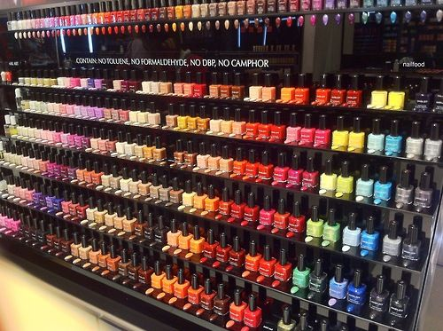 I visited an Inglot store today! Look at all the nail polish :O ...