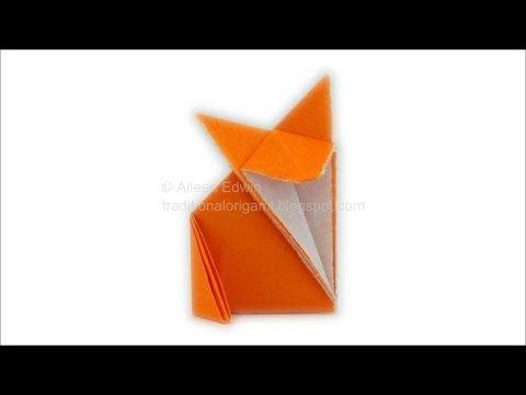 Traditional Origami Fox Variation Video Tutorial HD