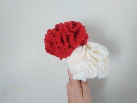 Cómo tejer claveles a crochet / Tutorial DIY | Patrones para Crochet ...
