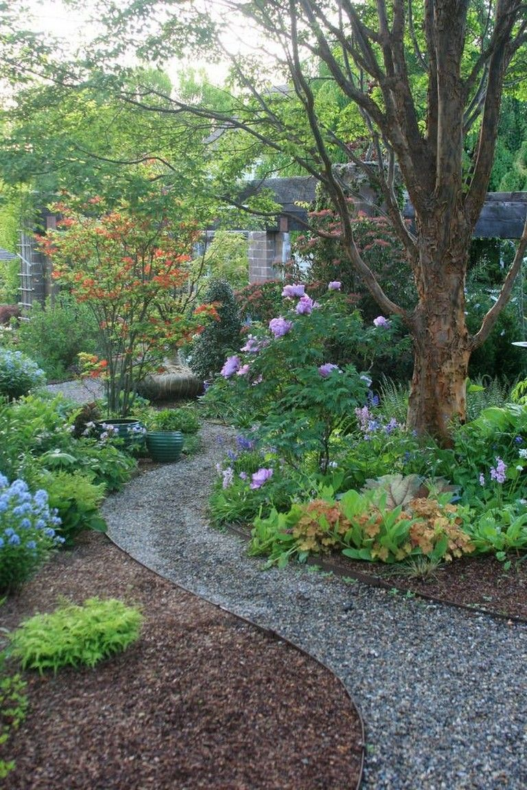 34 Beautiful Garden Path Design Ideas For Your Garden Page 23 Of 35 In 2020 Backyard Walkway Stone Garden Paths Traditional Landscape