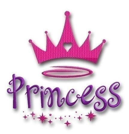 Princess Crown Embroidery Instant Download Digital Machine