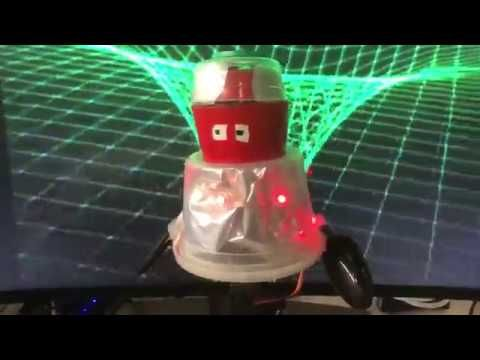 This robot was made with Adafruit CRICKIT #MakeRobotFriend using 2