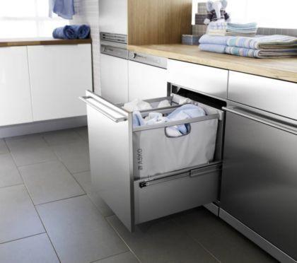 Mueble con bolsas extraibles cocinas lavadora y - Mueble para secadora ...