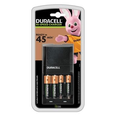 Duracell Hi-Speed Ready in 45 Minutes Battery Charger & 4 Batteries