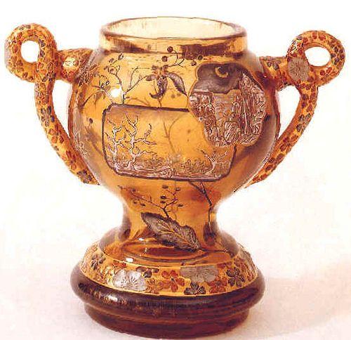 Emile Gallé Vase à balustre en verre émaillé et dorures ja…   Flickr