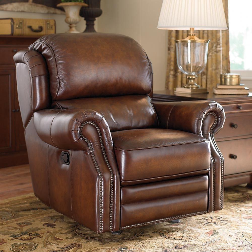 Bassett Newbury Rocker Recliner Leather recliner, Rocker