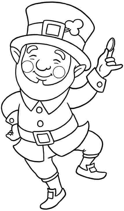 Cute Leprechaun Coloring Page Ireland Pinterest Saints
