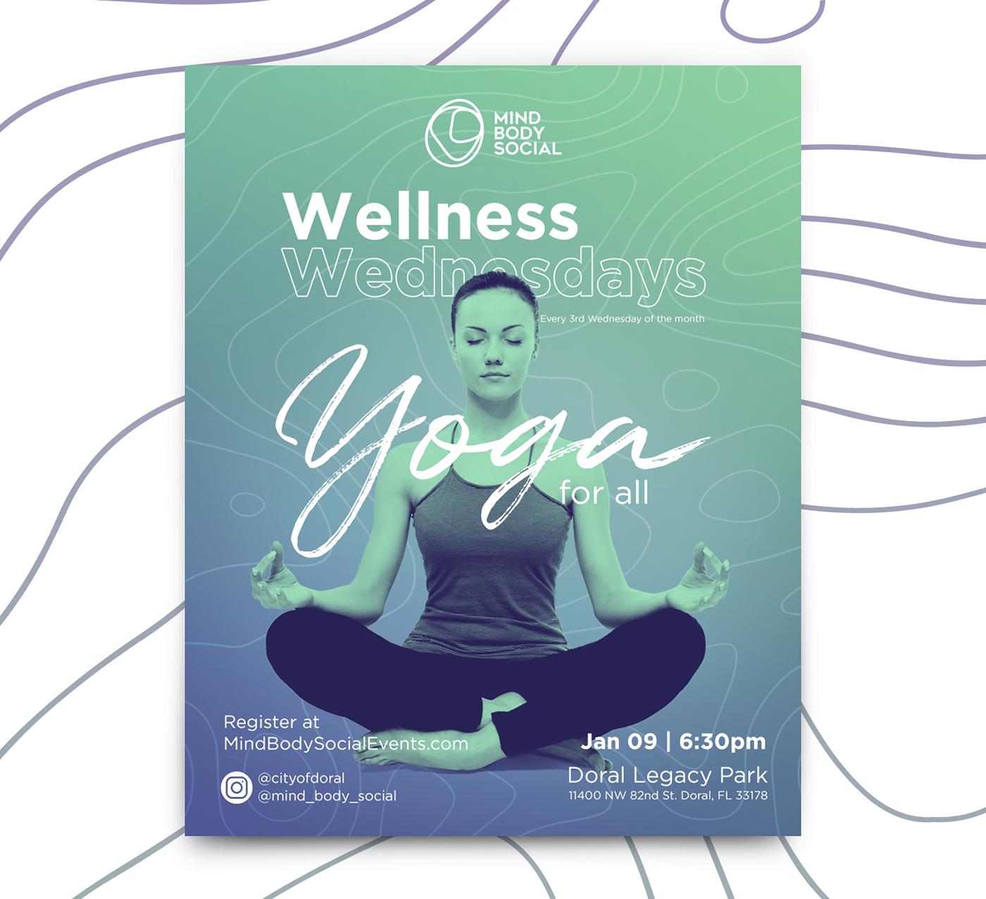 Echa Un Vistazo A Este Proyecto Behance Wellness Wednesdays Https Www Behance Net Gallery 74064335 Wellness Wedne Wellness Wednesday Yoga For All Wellness