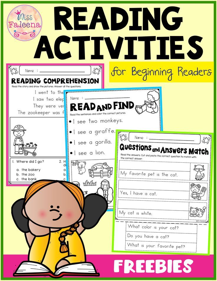 Free Reading Activities For Beginning Readers Reading Activities