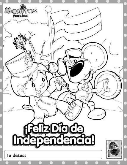 dibujos para colorear Día de la Independencia Argentina