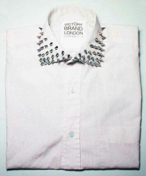 Camisa militar | camisa blanca | Camisa cuello tachuelas