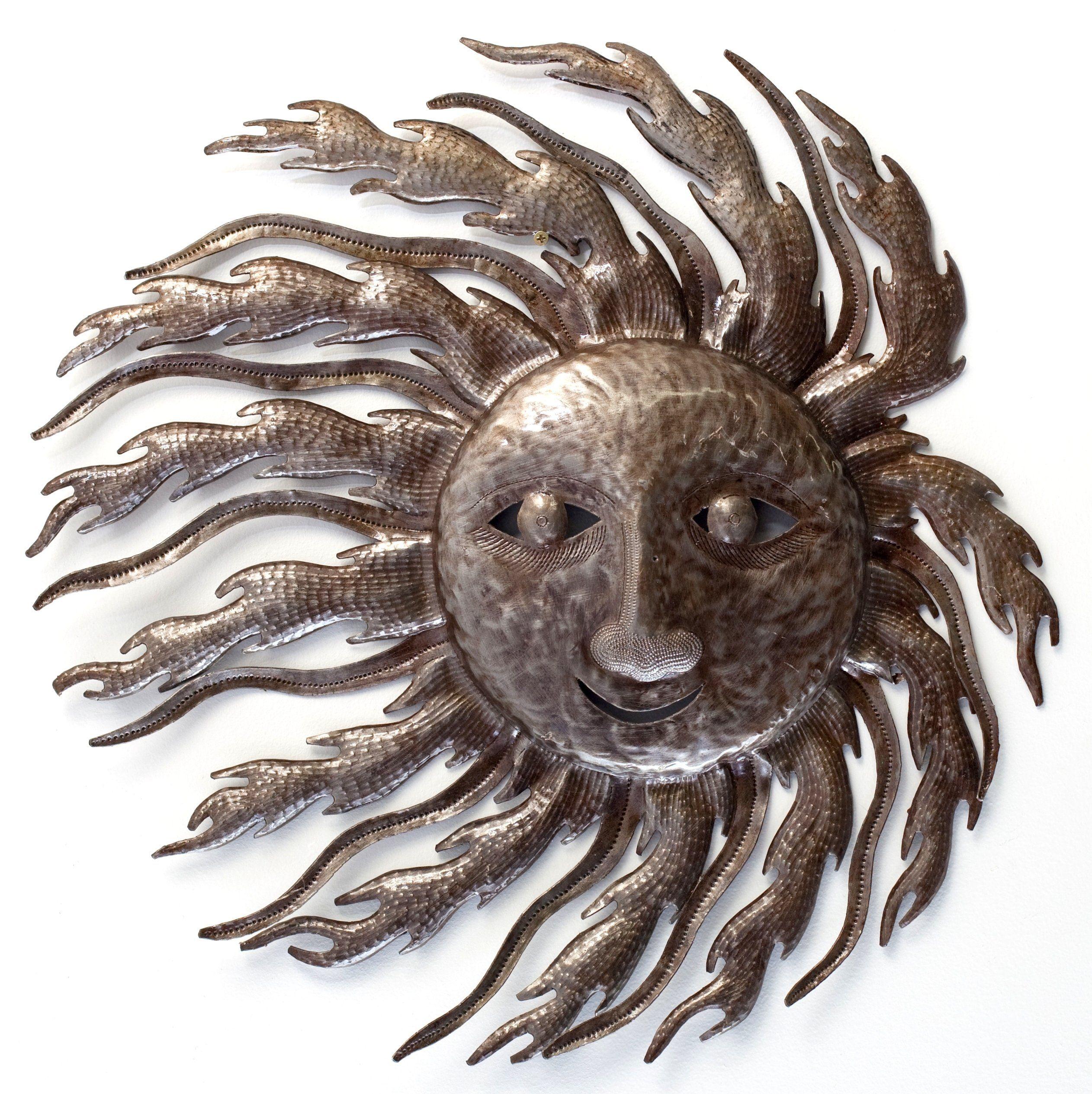 """""""Sun Blowing in the Wind"""" Outdoor Garden Yard Art or Metal"""