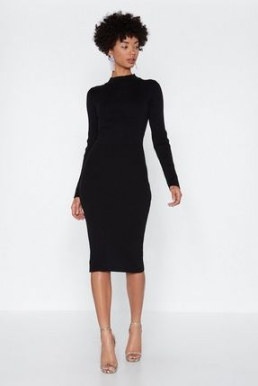 getting midi with it high neck dress  dresses body con