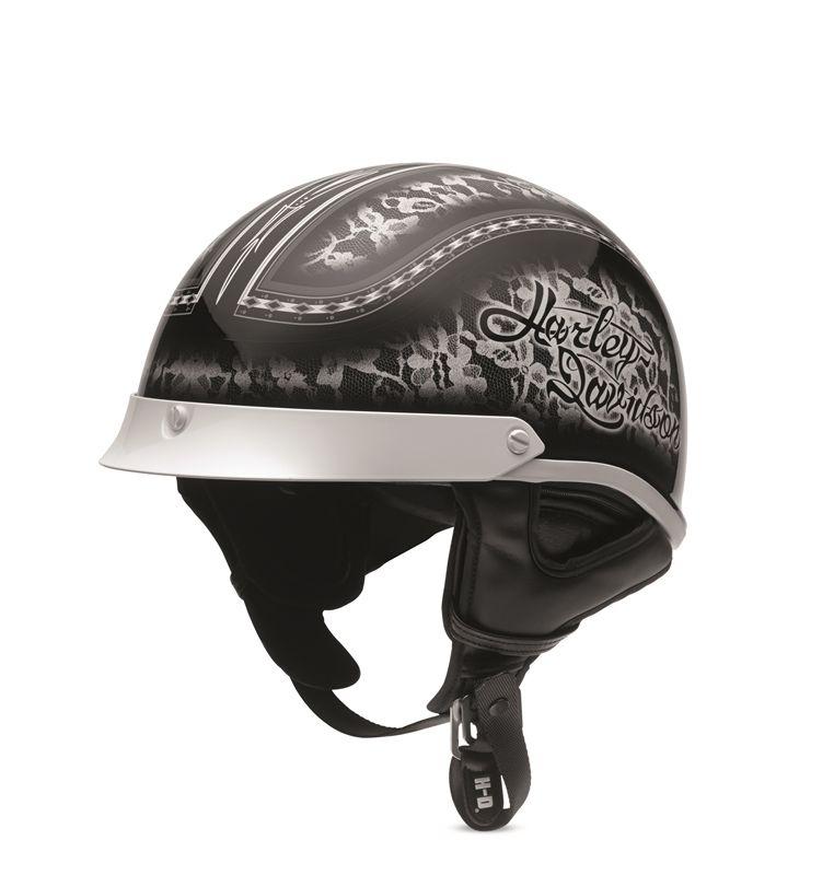 harley-davidson womens dusk rider ultra-light half helmet