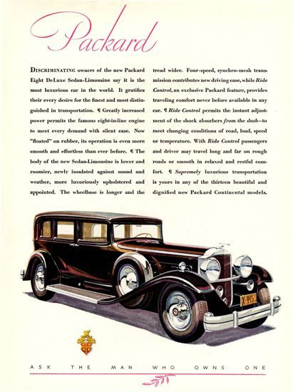 Packard Eight DeLuxe Sedan Limousine 1931