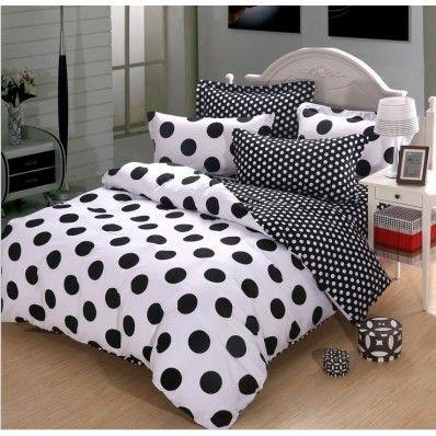 Black And White Polka Dot Cotton Duvet Cover Bedding Polka Dot Bedding Polka Dot Decor Remodel Bedroom
