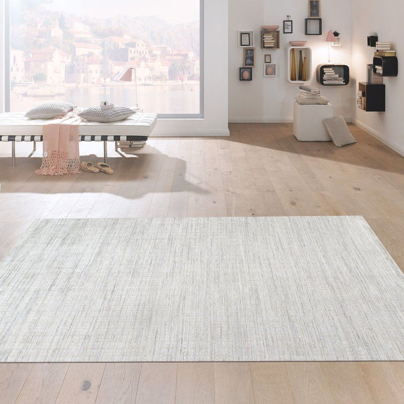 Slate Hand Knotted Wool Silk Ivory Gray Area Rug Rugs In Living Room Rugs Grey Area Rug