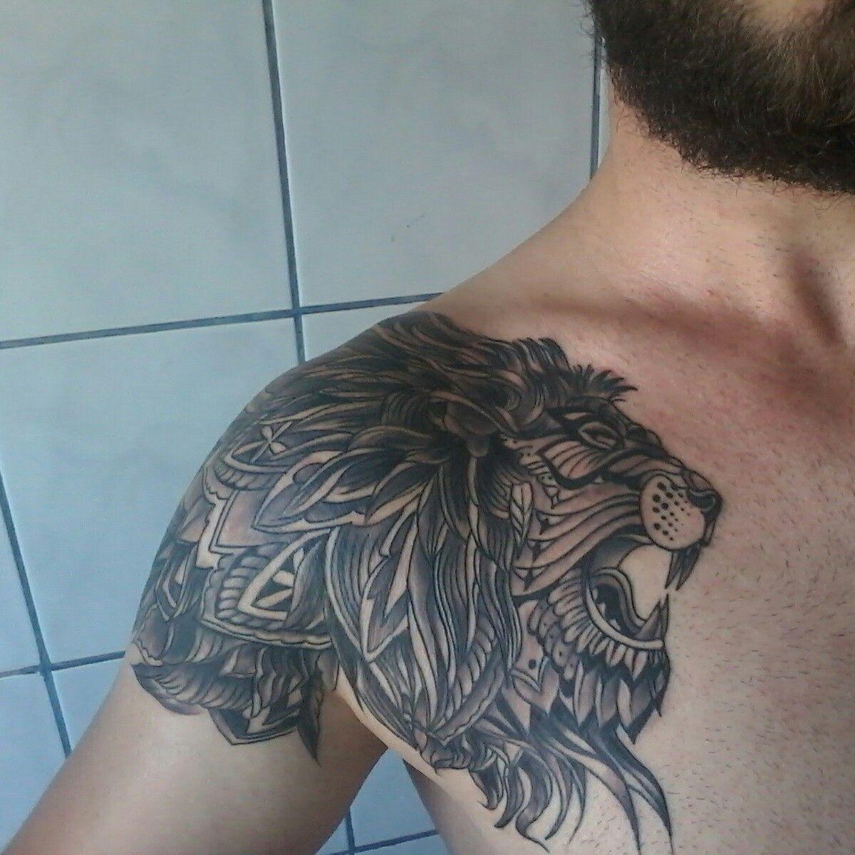 50+ Astonishing Tribal lion tattoo chest ideas