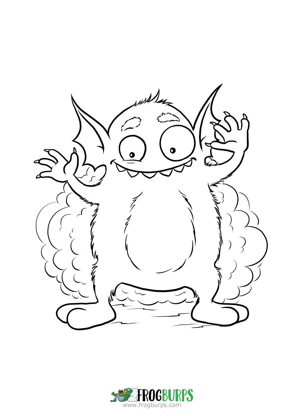 Silly Monster | Coloring Page | Frogburps Coloring Pages | Pinterest ...