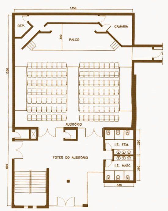 Foyer Planta Baixa : Resultado de imagen para auditorio foyer corte trabajo