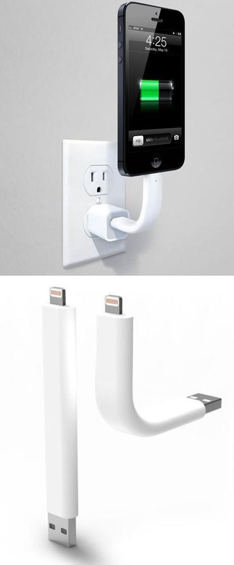This flexible, yet strong, phone charger could come in handy (especially in a car…