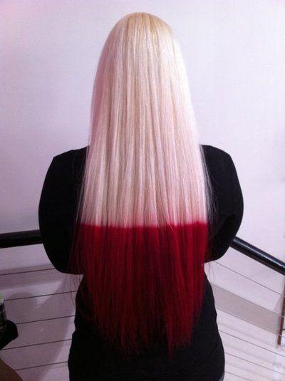 Log In Tumblr Hair Styles Dip Dye Hair Red Dip Dye Hair