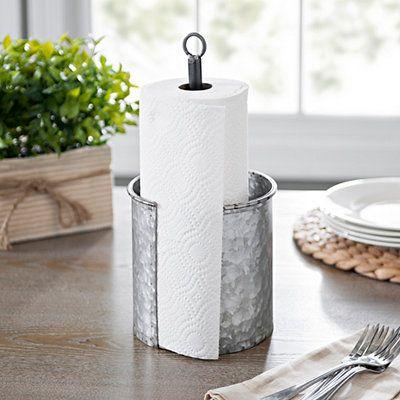 Product Details Galvanized Metal Paper Towel Holder #papertowelholders