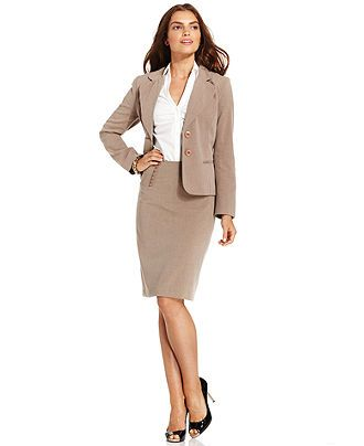 Agb Two Button Suit Jacket Pencil Skirt Womens Suits Suit