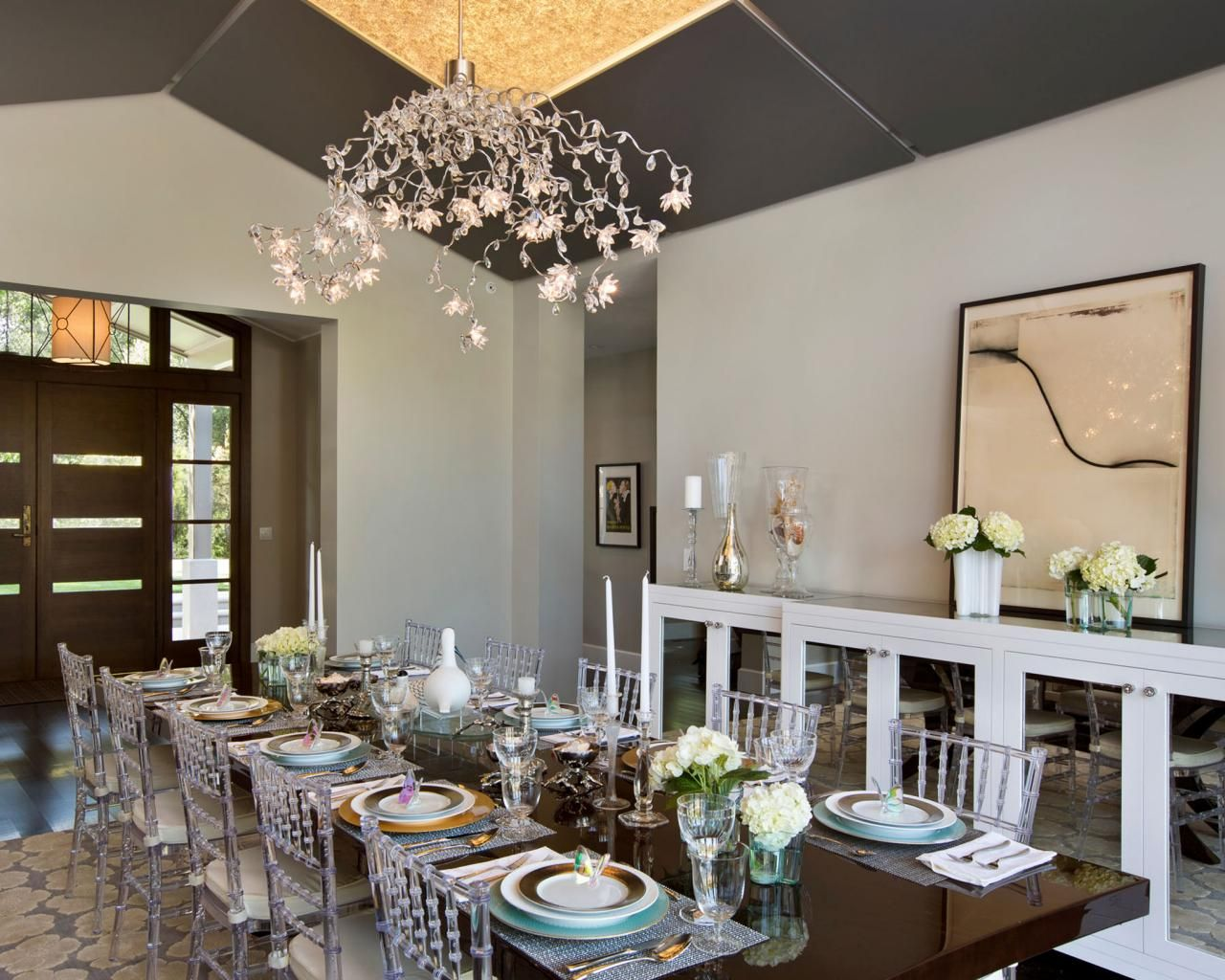 Contemporary Chandeliers For Dining Room Captivating Lighting Tips For Every Room  White Buffet Table White Buffet Inspiration Design
