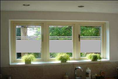 Raamdecoratie glasfolie raamfolie three stripes for Plakplastic raam