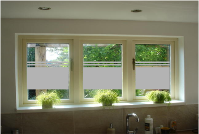 Raamdecoratie glasfolie raamfolie three stripes brumfield home