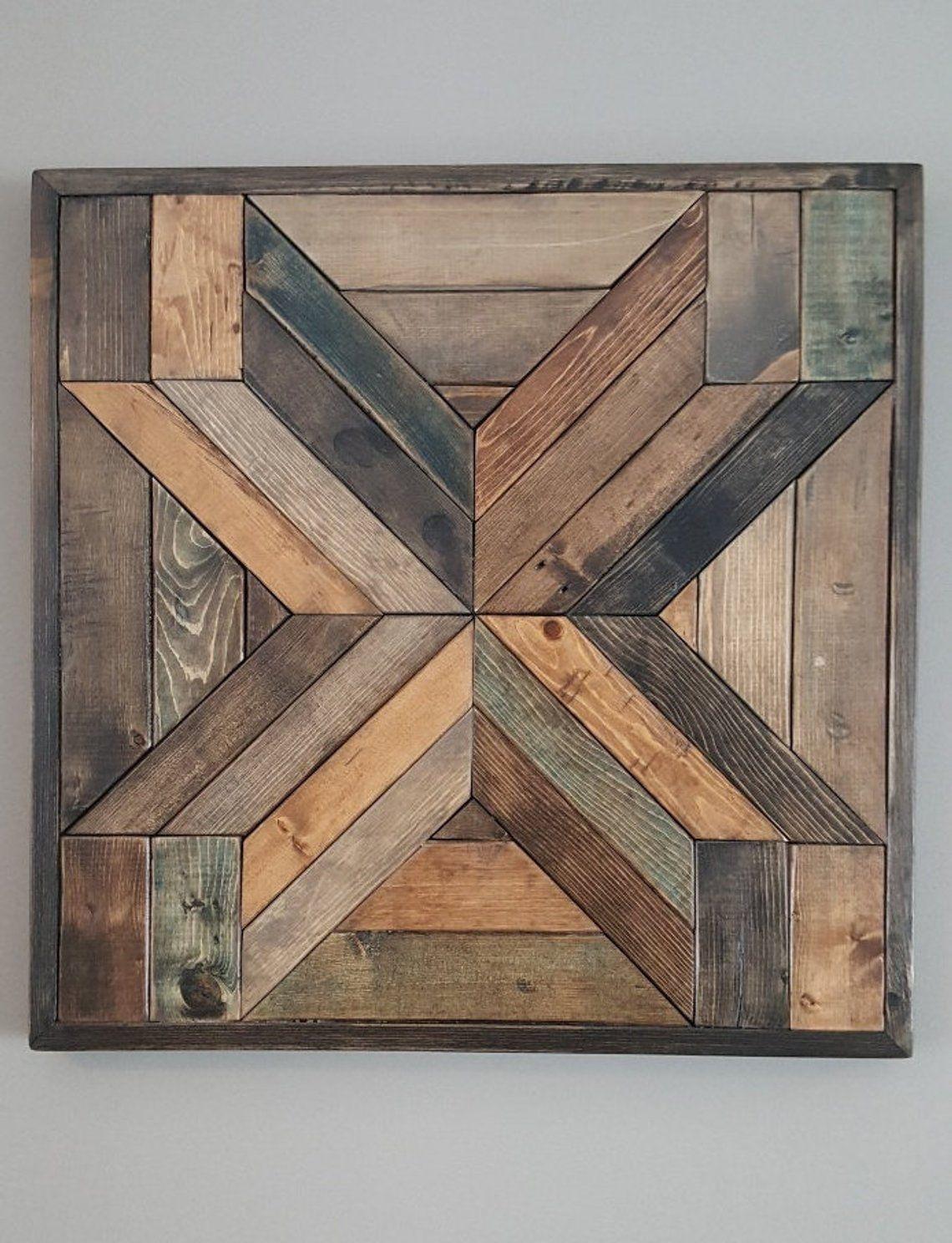 Cuadros en maderas | Rustic wood wall art, Rustic wood ...