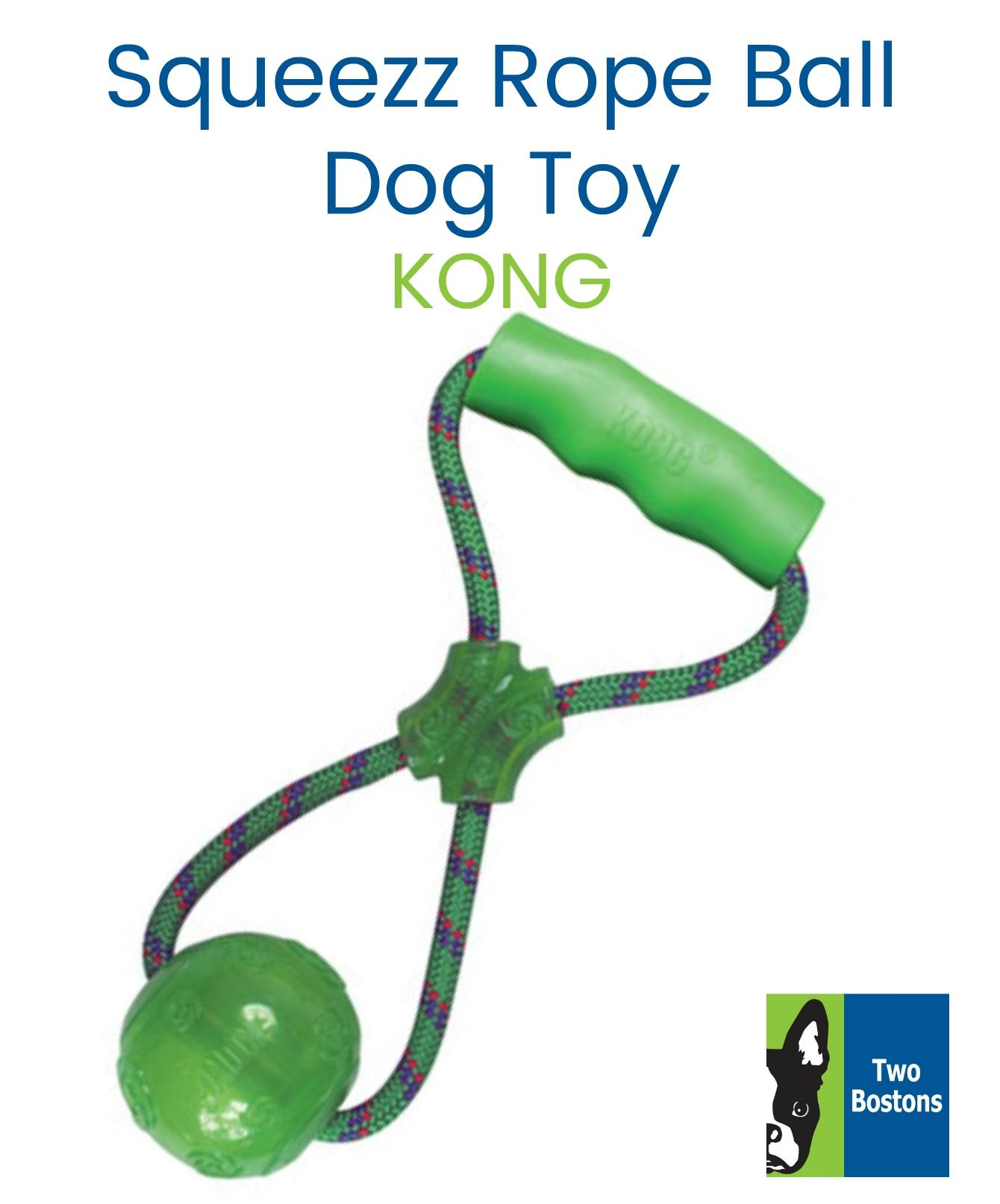 Squeezz Rope Ball With Handle By Kong Dog Toys Dog Love Fun