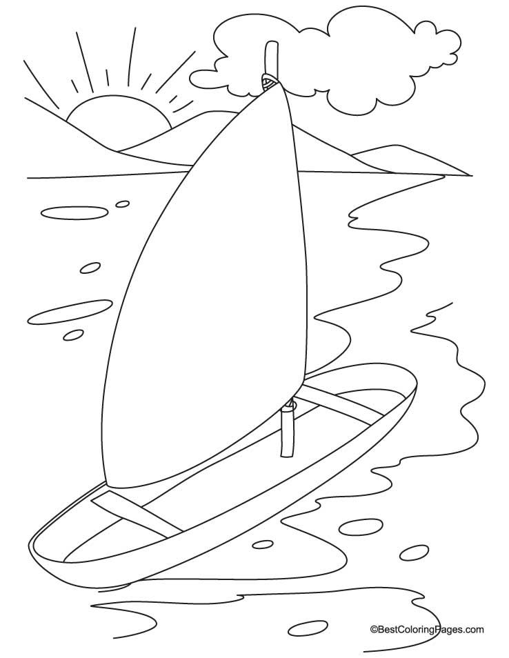 Yacht Coloring Page Coloring Pages Coloring Pages For Kids