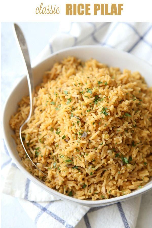 Classic Rice Pilaf #seasonedricerecipes